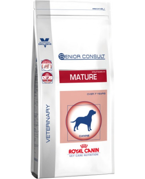 Суха храна за кучета - Royal Canin VCN - Senior Consult Mature Medium Dog - за средни кучета от 11 до 25 килограма на възраст над 7 години - 10 кг - Кучета